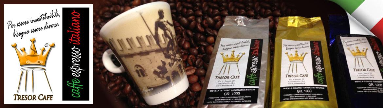 Tresor Cafe, il vero caffè espresso italiano.